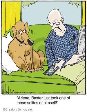 Cartoonist Jerry Van Amerongen  Ballard Street 2014-04-07 dog