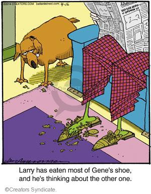 Comic Strip Jerry Van Amerongen  Ballard Street 2014-04-16 shoe