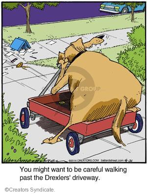 Comic Strip Jerry Van Amerongen  Ballard Street 2014-04-21 wagon