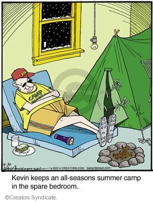 Comic Strip Jerry Van Amerongen  Ballard Street 2014-04-30 bedroom