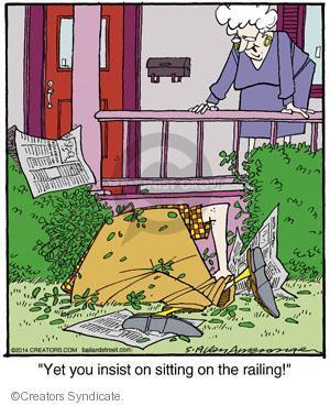 Comic Strip Jerry Van Amerongen  Ballard Street 2014-05-19 edge