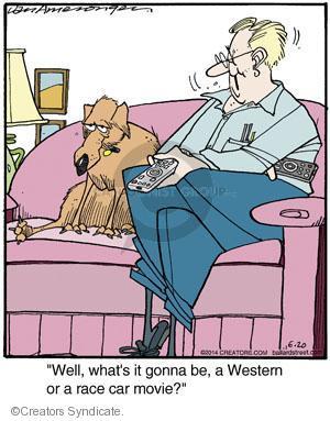 Cartoonist Jerry Van Amerongen  Ballard Street 2014-06-20 dog movie