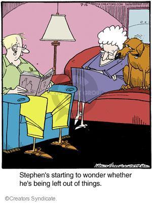 Comic Strip Jerry Van Amerongen  Ballard Street 2014-07-16 closeness