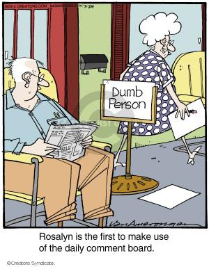 Comic Strip Jerry Van Amerongen  Ballard Street 2014-07-24 board