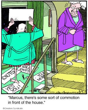 Comic Strip Jerry Van Amerongen  Ballard Street 2014-08-22 call