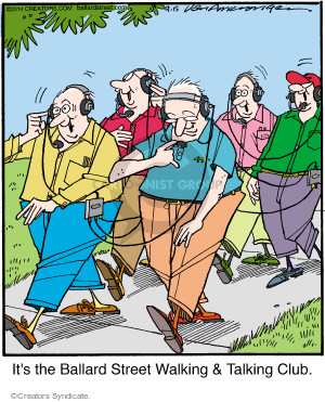 Cartoonist Jerry Van Amerongen  Ballard Street 2014-09-15 conversation