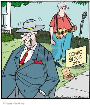 Comic Strip Jerry Van Amerongen  Ballard Street 2014-09-24 sing