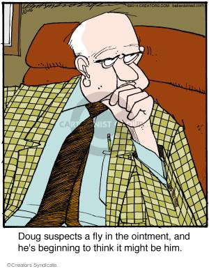 Comic Strip Jerry Van Amerongen  Ballard Street 2014-10-16 him