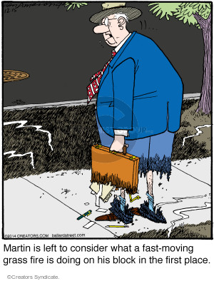 Comic Strip Jerry Van Amerongen  Ballard Street 2014-12-15 fire
