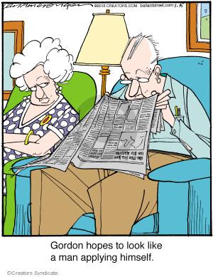 Comic Strip Jerry Van Amerongen  Ballard Street 2015-01-15 intention