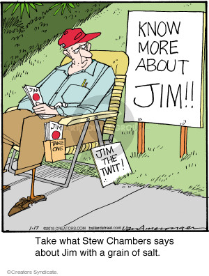 Comic Strip Jerry Van Amerongen  Ballard Street 2015-01-17 animosity