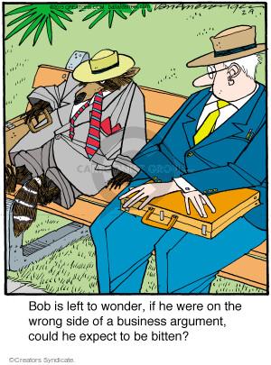 Comic Strip Jerry Van Amerongen  Ballard Street 2015-02-09 bite