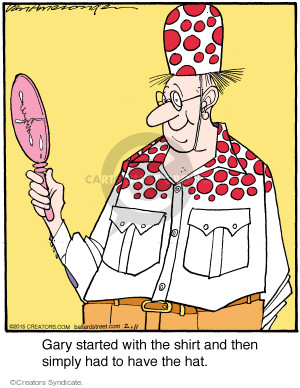 Comic Strip Jerry Van Amerongen  Ballard Street 2015-02-11 garment