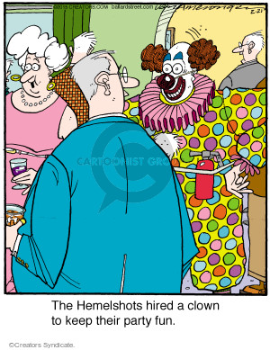 Comic Strip Jerry Van Amerongen  Ballard Street 2015-02-21 clown
