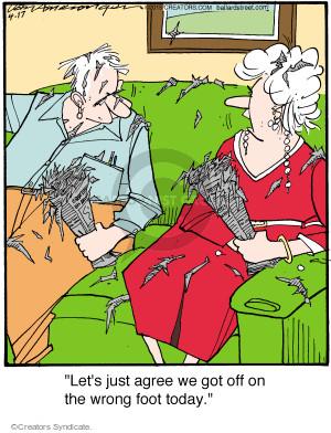 Comic Strip Jerry Van Amerongen  Ballard Street 2015-04-17 disagreement