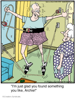 Comic Strip Jerry Van Amerongen  Ballard Street 2015-04-28 fitness