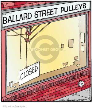 Comic Strip Jerry Van Amerongen  Ballard Street 2015-06-03 sign