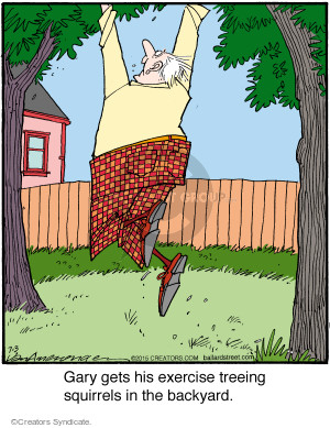 Cartoonist Jerry Van Amerongen  Ballard Street 2015-07-03 backyard