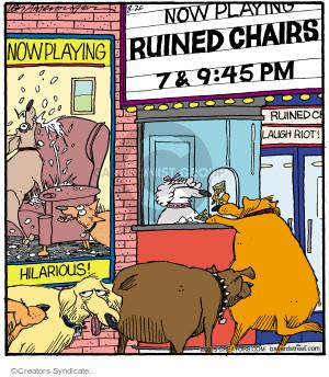 Cartoonist Jerry Van Amerongen  Ballard Street 2015-08-20 dog movie