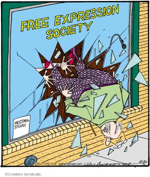 Comic Strip Jerry Van Amerongen  Ballard Street 2015-10-20 irate