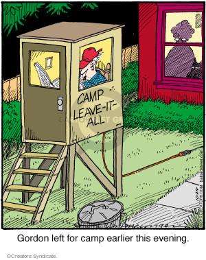 Cartoonist Jerry Van Amerongen  Ballard Street 2015-10-24 backyard