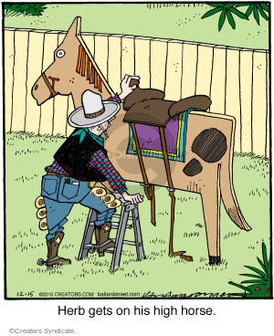 Comic Strip Jerry Van Amerongen  Ballard Street 2015-12-15 rider
