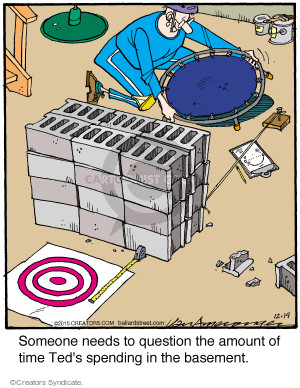 Cartoonist Jerry Van Amerongen  Ballard Street 2015-12-19 basement