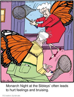 Cartoonist Jerry Van Amerongen  Ballard Street 2016-02-22 monarch