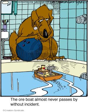 Cartoonist Jerry Van Amerongen  Ballard Street 2016-03-08 dog toy