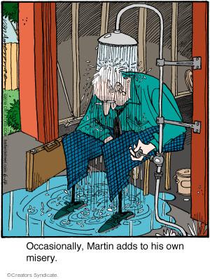 Cartoonist Jerry Van Amerongen  Ballard Street 2016-06-14 water