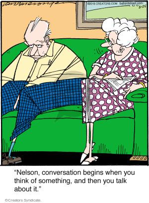 Comic Strip Jerry Van Amerongen  Ballard Street 2016-06-25 communicate