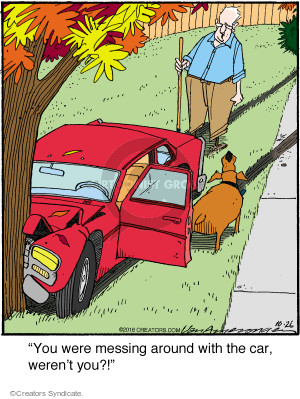 Cartoonist Jerry Van Amerongen  Ballard Street 2016-10-26 automobile