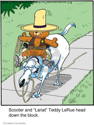 Comic Strip Jerry Van Amerongen  Ballard Street 2016-11-03 teddy