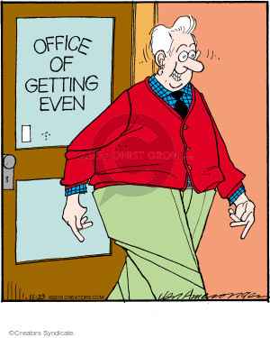 Comic Strip Jerry Van Amerongen  Ballard Street 2016-11-23 office