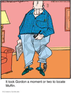 Cartoonist Jerry Van Amerongen  Ballard Street 2016-11-25 pants
