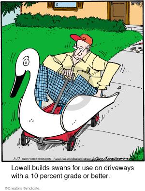 Comic Strip Jerry Van Amerongen  Ballard Street 2017-01-17 wagon
