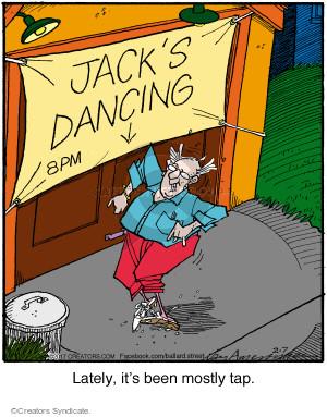 Comic Strip Jerry Van Amerongen  Ballard Street 2017-02-07 dancer