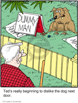 Cartoonist Jerry Van Amerongen  Ballard Street 2017-07-20 neighbor