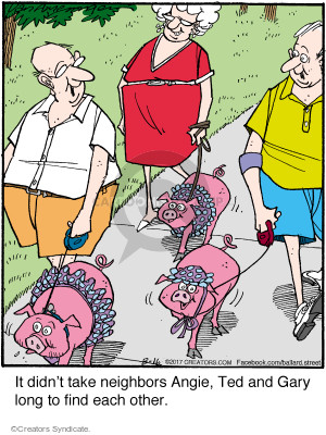 Comic Strip Jerry Van Amerongen  Ballard Street 2017-08-16 neighbor