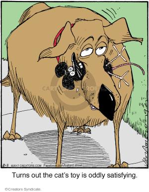 Cartoonist Jerry Van Amerongen  Ballard Street 2017-10-03 dog toy