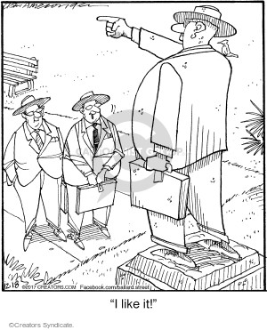 Comic Strip Jerry Van Amerongen  Ballard Street 2017-12-18 likeness