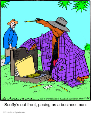 Comic Strip Jerry Van Amerongen  Ballard Street 2017-12-20 scuffy