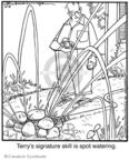 Cartoonist Jerry Van Amerongen  Ballard Street 2008-10-08 gardening
