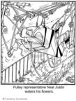 Cartoonist Jerry Van Amerongen  Ballard Street 2008-11-27 gardening