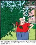 Cartoonist Jerry Van Amerongen  Ballard Street 2011-01-20 gardening