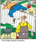 Cartoonist Jerry Van Amerongen  Ballard Street 2011-03-23 fence