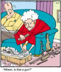 Cartoonist Jerry Van Amerongen  Ballard Street 2011-04-11 gun