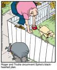 Cartoonist Jerry Van Amerongen  Ballard Street 2011-06-08 fence