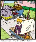 Cartoonist Jerry Van Amerongen  Ballard Street 2011-08-06 pastime