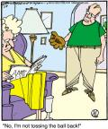 Cartoonist Jerry Van Amerongen  Ballard Street 2012-02-04 baseball